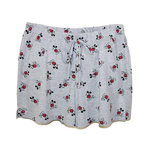 Disney Damen Schlafanzughose, Animalprint grau grau Einheitsgröße Grau