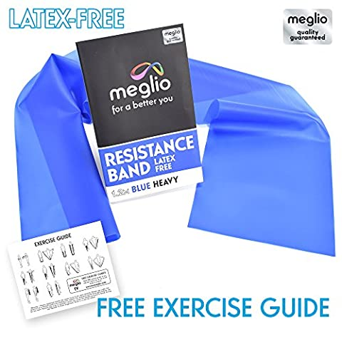Latex Free Resistance Bands for Mobility Strength & Rehab Premium Quality 1.2 & 2 Metre Length - Exercise Guides Included