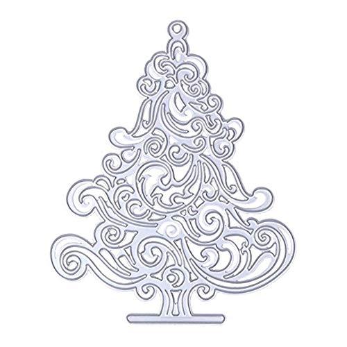 Rocita Stanzschablone Scrapbooking Stanzmaschine Schablonen Prägeschablonen Stanzformen für DIY Scrapbooking Album Schneiden Schablonen Papier Karten Fotopapier Handwerk, Weihnachtsbaum