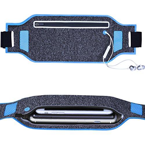Hüfttasche Tasche, SQMCase Ultra-Slim Wasserdicht Reflektierende Laufgürtel Universal Fanny Pouch SQMCase (Blau) -