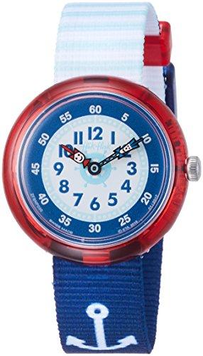 Flik Flak Jungen Analog Quarz Uhr mit Stoff Armband FBNP090
