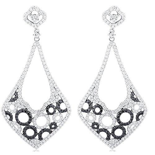 3,52 K diamonds-Orecchini da donna in oro bianco 18 k