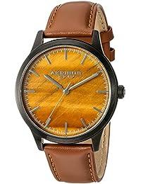 Akribos XXIV Reloj de hombre de cuarzo con Esfera Marrón Pantalla Analógica y correa de piel color marrón ak937tn