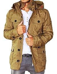 1960461a4b29 Gefütterte Herren Winterjacke mit Fell Kapuze Regenjacke Coat der Marke  Young   Rich Jacke Parka Mantel