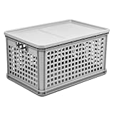 64 Liter Stapelbox Lagerkiste Euro Box Gemüsebox grau Aufbewahrungskiste Kiste