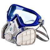 Respirador de Cara Completa, Respirador Máscara de gas, Máscara Antigás a Prueba de Polvo Respirador de Cara