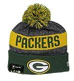 New Era NFL Sideline Bobble Knit Grepac OTC - Schirmmütze Linie Green Bay Packers für Herren, Farbe Grün, Größe OSFA
