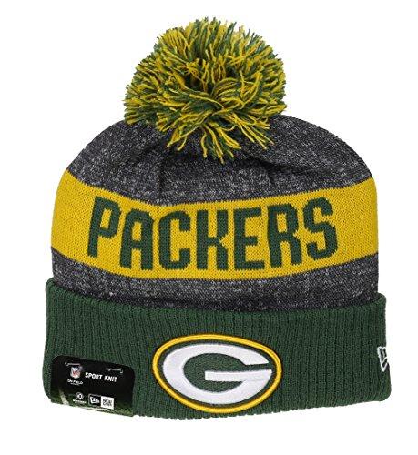 ddc9c9cfb62 New Era NFL Sideline Bobble Knit Grepac OTC - Schirmmütze Linie Green Bay  Packers für Herren