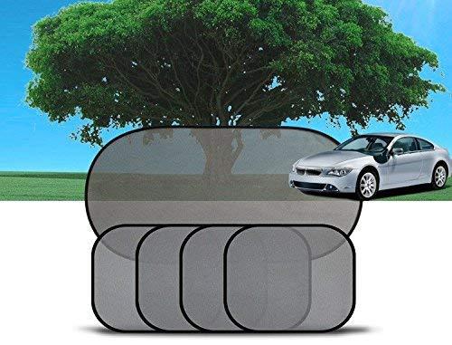 Yosoo 5x Seite Auto Heckscheibe Sonnenschutz Sonnenschutz Mesh Bezug Visier Shield Display Set