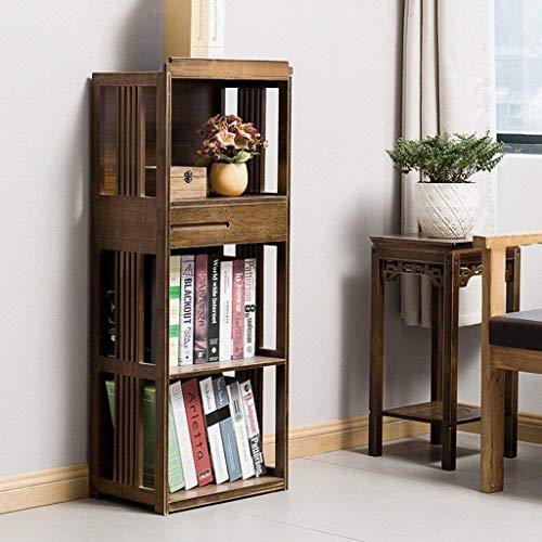 WOYQS Büro Bücherregal Landing Multi-Layer-Rack im chinesischen Stil Wohnzimmer Retro einfache Kombination Bücherregal Regal Wohnzimmer-Studie (Color : 3 Layers - 42cm) -