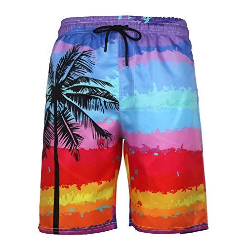 CH&LU Quick Dry Men Floral Strandhose 3D Print Boardshorts Homosexuell Surf Siwmwear Bermuda Swim Short Homme Knielangen Swim Wear-XXL - Floral Print Boardshorts