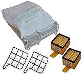 Spar Set 18 Staubsaugerbeutel  5 lagig, aus hochwertigem Premium - Microvlies, für Allergiker geeignet, 2 Hygienefeinfilter, 2 Motorschutzfilter geeignet für Ihren Vorwerk Kobold 135 / 136 / 135SC / VK 135 / VK 136 / FP135 / FP136 / FP135 SC (Wei)