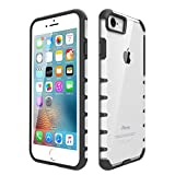 iPhone 7 Case, iPhone 8 Case Egotude® England Series Hard Transparent Back Bumper Cases Cover for Apple iPhone 7 & iPhone 8 - Black