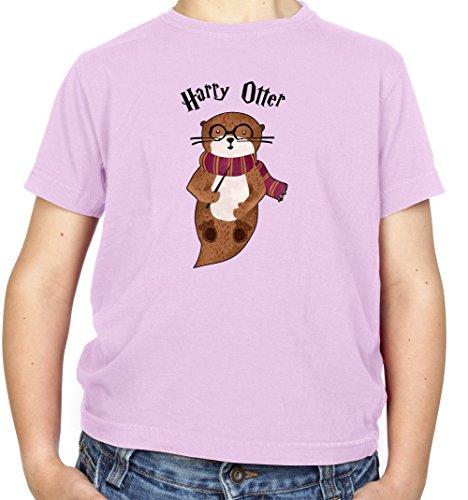 Harry Otter - Kinder Fun T-Shirt - Hellrosa - M (7-8 Jahre)