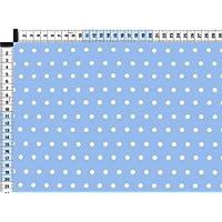 Tessuto da tappezzeria, rivestimento in tessuto, tessuto da tappezzeria, tessuto, tenda, tessuto - Mille punti, blu - moda pois tessuto in puro cotone