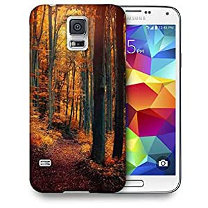 Snoogg Red Forest Printed Protective Phone Back Case Cover For Samsung S5 / S IIIII