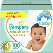 Pampers Premium Care, Size 4, Maxi, 9-14 kg, Mega Box, 100 Diapers