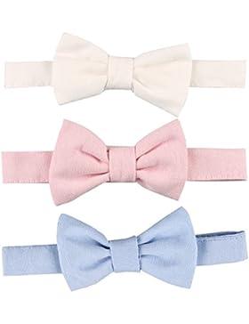 RUSPEPA Paquete infantil de Bowtie del bebé de los bebés/de las muchachas del uno mismo del corbata de 3 (P003)