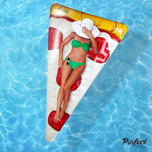 Offizielle 'Perfect Pools' Aufblasbare Giant Pizza Slice Float | Schwimmbecken Schwimmer 178cm
