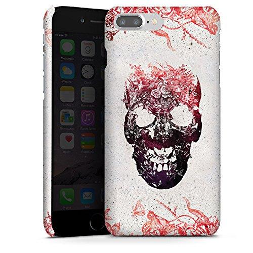 Apple iPhone X Silikon Hülle Case Schutzhülle Totenkopf Skull Schädel Premium Case glänzend