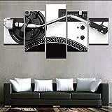 myvovo (Kein Rahmen) Leinwand HD Gedruckt 5 Panels Musik DJ Konsole Instrument Mixer Poster Modern Home Wandkunst Dekorative Malerei Modular Pictures
