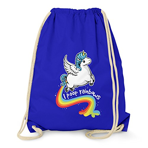NERDO - I poop Rainbows - Turnbeutel, marine