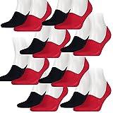 Levis Unisex Sneaker 168SF Low Rise 8er Pack, Größe:43-46, Farbe:Red/Blue (505)