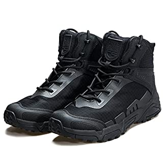 FREE SOLDIER Men's Tactical Boots Breathable Military Army Boots Durable Combat Work Shoes Lightweight Hiking Walking Boots 3