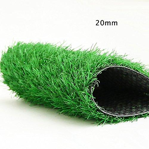 WENZHE-Artificiales sintético plástico Grass Hierba artificiales alfombra Césped COLEGIO Alta Densidad Barato, 2 Metros De Ancho, 3 Colores, Grueso 20/30 Mm ( Color : Summer-20mm , Tamaño : 2*0.5m )