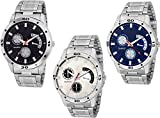 Royal India Overseas Analogue Multicolor Dial Combo of 3 Men's & Boy's Watch (AVEO_BLUE_WHITE_BLK)