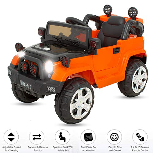 Baybee Grand Toy Car Rechargeable Battery Operated Ride on car for Kids with Music/Toddlers with Remote Control Electric Motor Car Suitable Babies for Boys & Girls (2 to 8yrs)