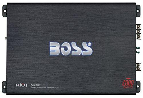 BOSS Audio Riot R2000M Monoblock, Klasse A/B-Verstärker mit 2000 Watt (Audio-subwoofer-endstufe)