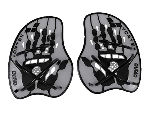 arena Vortex Evolution Hand Paddle, silver-black, L, 95232