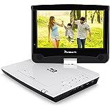 NAVISKAUTO 10,1 Zoll Tragbarer Blu-ray DVD Player Monitor 1024x 600 Full HD 1080P Video mit HDMI Anschluss/ Drehbarer Bildschirm Region 2 Filme Schwarz+Weiß