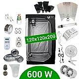 Growbox Komplettset 600 Watt HPS Adjust-a-Wings 120x120x200 - Vorschaltgerät ETI 1