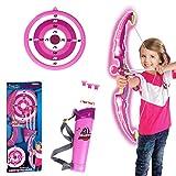 DAN DISCOUNTS Bogen Set Kinder Bogenschießen Schießspiele mit Licht und 3 Pfeilen, Geschenk für Kinder ab 6 Jahre