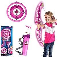VIPO Juego de Arco y Flecha de plástico Archery Toys con luz para niños.