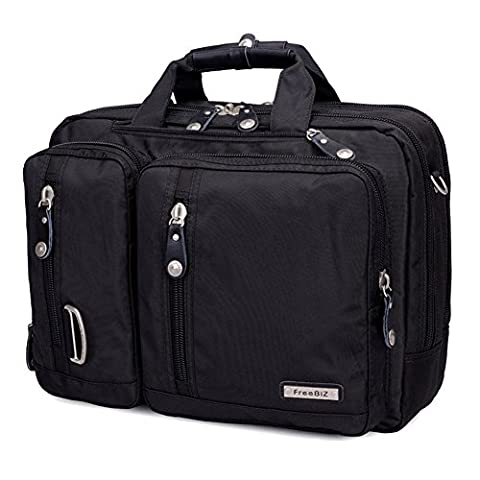 FreeBiz 15.6 Inch Multi-function Laptop Briefcase Backpack with Handle and