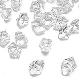 Dotters TY Clair Faux de Glace pilée Rocks, 150pcs Faux Diamants Plastique Glaçons en Acrylique Clair Ice Rock Diamant Cristaux Faux Glaçons Gems Vase écran pour décoration Mariage Anniversaire