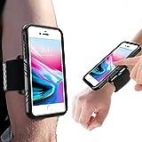 Greallthy Handy-Armbänder für iPhone 8 Plus mit Robustem stoßfestem Gehäuse, Einfache Montage, integrierte Reflect-Streifen, Sportarmband für Den Sport im Freien Jogging Radfahren Laufen