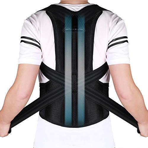 DOACT Geradehalter zur Haltungskorrektur - Rücken Schulter Verstellbar Atmungsaktiv Rückenbandage Rückenhalter Haltungskorrektur für Damen und Herren XXL(Taille 112cm-130cm/44-51)
