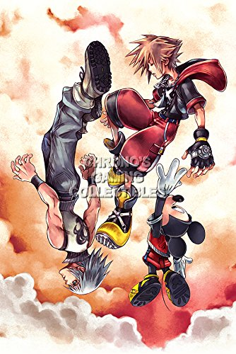 "CGC enorme cartel - Kingdom Hearts Dream Drop Distance Nintendo 3DS - KHT006, papel, 24"" x 36"" (61cm x 91.5cm)"