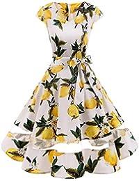 Gardenwed Annata 1950 retrò Rockabilly Polka Vestito da Audery Swing Abito  da Cocktail Partito con Maniche 67ddb7f4244