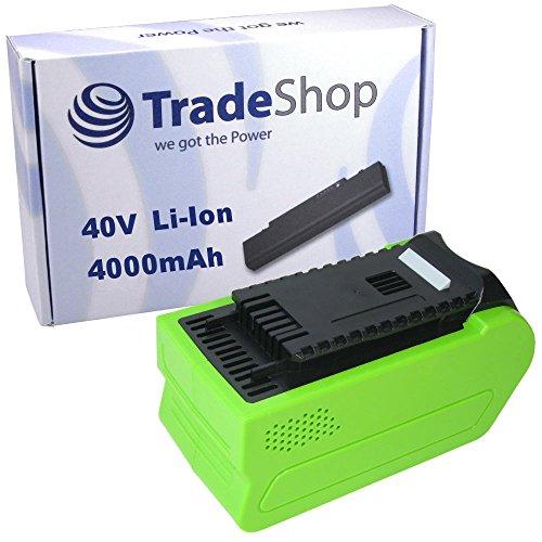 Trade-Shop Premium Li-Ion Akku 40V 4000mAh 160Wh für Greenworks G-MAX Heckenschere 22637T 22147T, Kettensäge 20117 20077, Hochentaster 20157