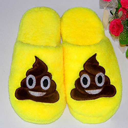 LUOEM Pantofole Peluche Ciabatte Invernali Pantofole da Casa Morbide Calde  Antiscivolo Donna Uomo (Divertente Faccia ... 10b4d51a15c