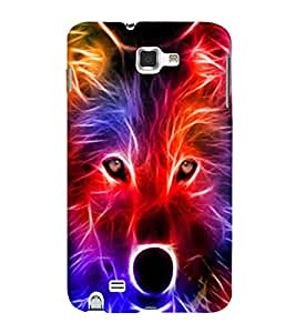 Colourful Light Fox 3D Hard Polycarbonate Designer Back Case Cover for Samsung Galaxy Note N7000 :: Samsung Galaxy Note I9220 :: Samsung Galaxy Note 1 :: Samsung Galaxy Note GT-N7000