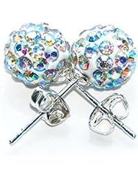 Diamante Rhinestone perlen shamballa stil ohrringe/disco ohrringe(Farbe AB)