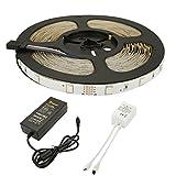 ALED LIGHT 5050 300 Leds 10M RGB Led Strip, LED Lichtleisten, LED Leisten,LED Band, LED Strahler+ 44 Tasten Infrarot Fernbedienung + 6A 24V Energieversorgung Energieklasse A