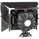 Camtree Camshade Professional Matte Box Grand Angle avec adaptateur pour tige 15mm pour DSLR vidéo caméscope DV Nikon Canon Sony Blackmagic objectifs jusqu'à 105mm (Mb-cms)