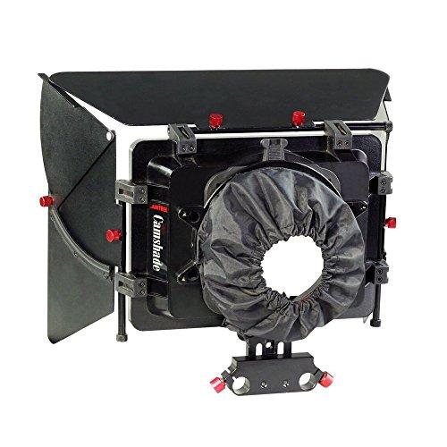 CAMTREE camshade Professional Weitwinkel Matte Box mit 15 mm Rod Adapter für DSLR Video DV Camcorder Nikon Canon Sony Kamera Blackmagic Objektive bis zu 105 mm (mb-cms) -